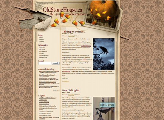 Screenshot from Old Stone House site.